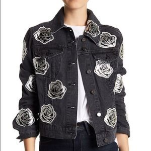 Bagatelle | NWT Rose appliqué denim jacket